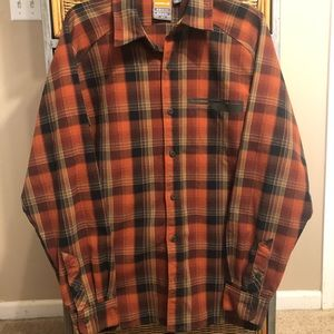Merrell button down casual shirt upf 30+ hiking